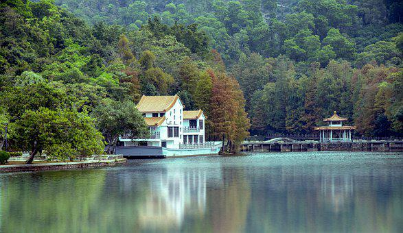 Shenzhen, Fairy Lake, The Scenery, Reflection
