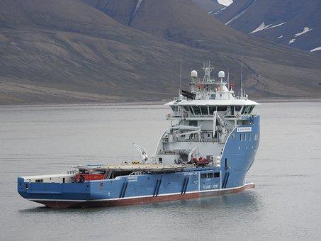 Ship, Boat, Sea, Ocean, Spitsbergen, Research Ship