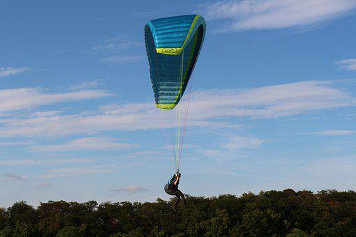 Paragliding, Landing, Sport, Flying, Parachute