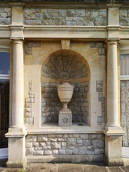 Urn, Stone, Pillars, Sculpture, Building, Architecture