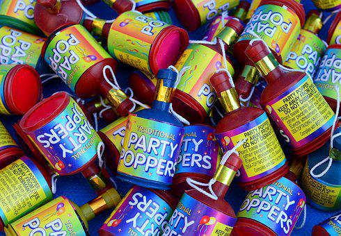 Party Poppers, Celebration, Party, Birthday, Surprise