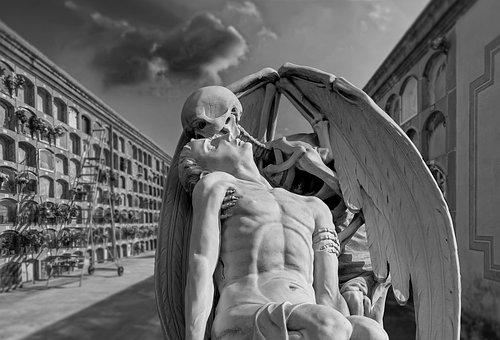 Cemetery, Tomb, Death, Angel, Sculpture, Stone, Statue