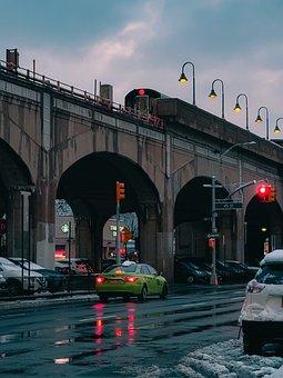 City, New York, New York City, Nyc, Traffic, Lights