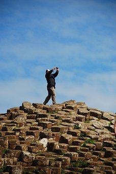 Man, Rocks, Volcano, Trekking, Adventure, Mountain, Sky