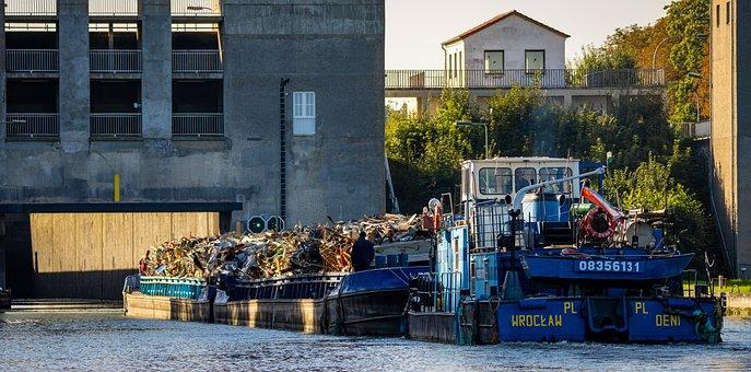 River, Bridge, Boat, Ship, River Boat, Channel
