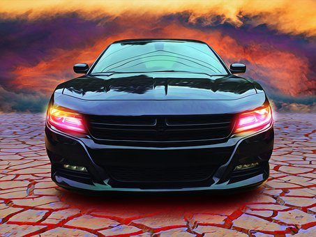Car, Dodge, Charger, Storm, Dramatic