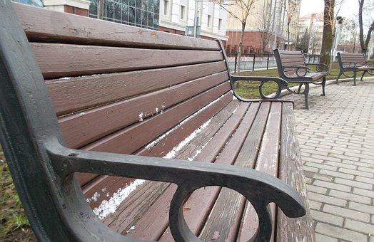 City, Bench, Park
