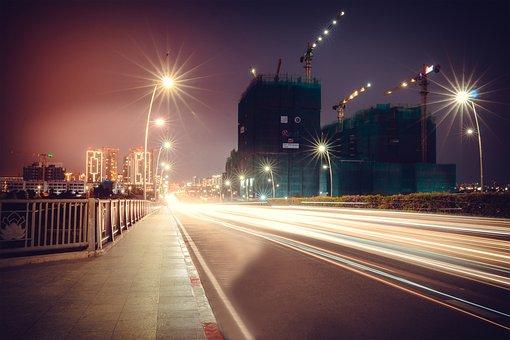 Night, City, Buildings, City Lights, Illuminated