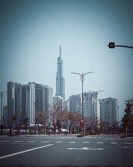 Buildings, Roads, City, Towers, Skyscrapers, Skyline
