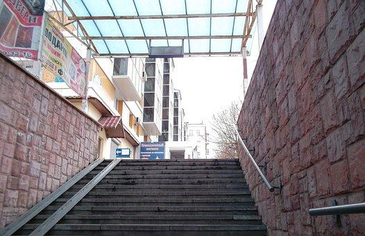 City, Underground Crossing, Architecture, Donetsk