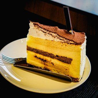 Cake, Slice, Tiramisu, Dessert, Sweet, Delicious