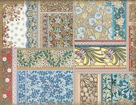 Art Nouveau, Scrapbook, Journal, Pattern, Design