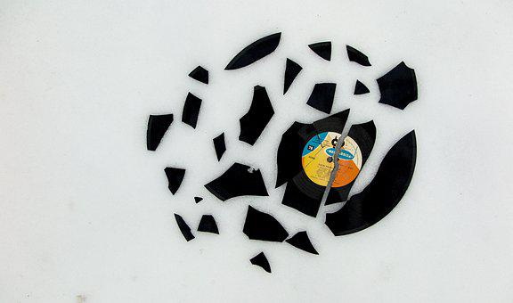 Music, Disc, Broken, Turntable, Record, Vinyl, Audio