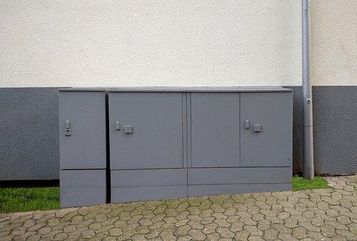 Current, Power Box, Dormagen, Urban, Building, Grey