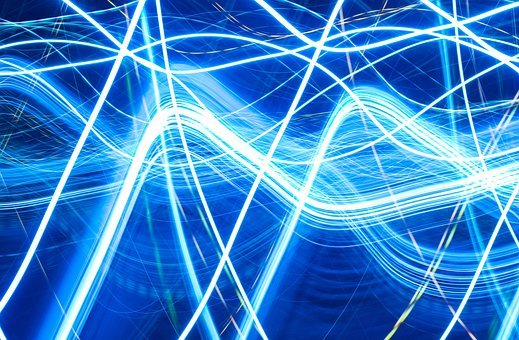 Electric, Electrons, Waves, Blue, Digital, Electronic