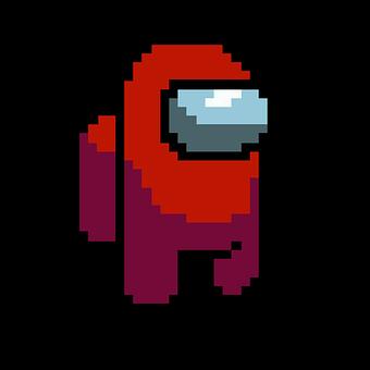 Pixel, Game, Among Us, Pixel Art, Pixelated, Design