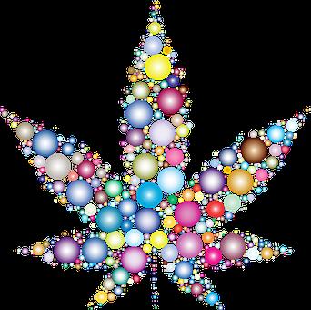 Marijuana, Circles, Leaf, Drugs, Dots, Geometric