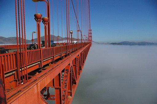 Golden Gate, Bridge, Steel Cables, Golden Gate Bridge