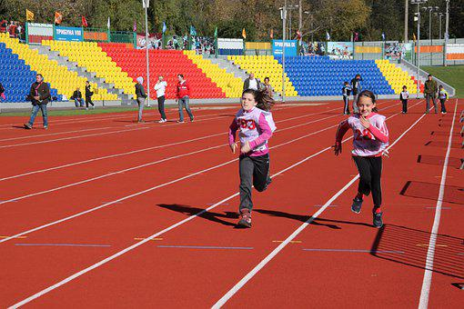 Kids, Running, Sports, Athletes, Girls, Competition