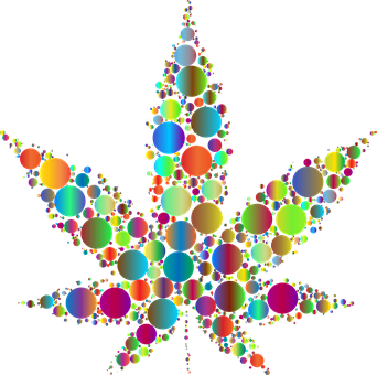 Marijuana, Circles, Leaf, Drugs, Dots