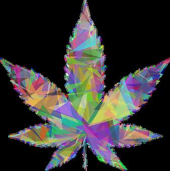 Marijuana, Leaf, Drugs, Low Poly, Leaves, Cannabis
