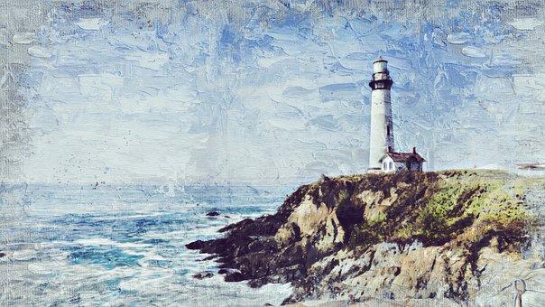 Lighthouse, Tower, Coast, Ocean, Building, Warning