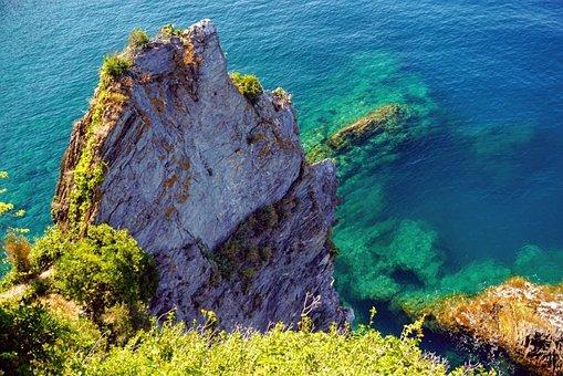 Beach, Rock, Water, Sea, Seascape, Ocean, Coast