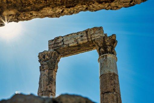 Pillars, Ruins, Columns, Architecture, Amman, Jordan