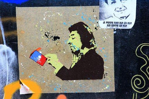 Serge Gainsbourg, Tag, Singer, Man, Humans, Wall