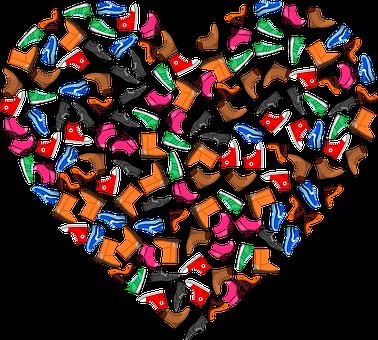 Heart, Love, Shoes, Boots, Footwear, Sneakers, Pumps