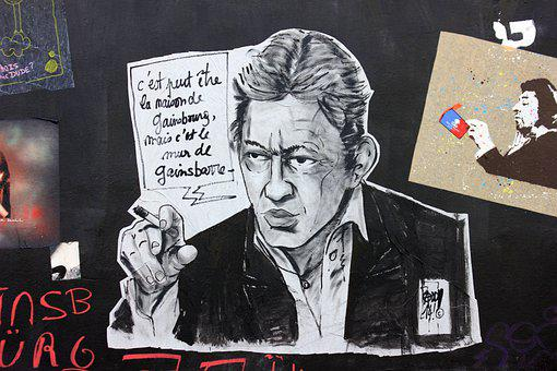 Serge Gainsbourg, Tag, Singer, Man, Humans, Wall