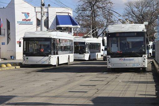 Trolley, Road, Trolley Bus, City, Transport, Traffic