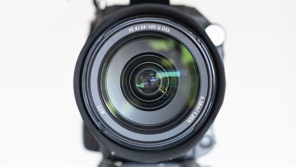 Camera, Sony Fs5, Camcorder, Video, Microphone, Lens