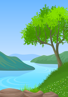 Illustration, Background, Landscape, Wallpaper, Nature