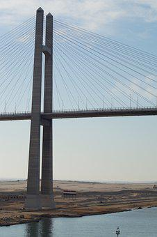 Al Salam Bridge, Bridge, Canal, Waterway, Road Bridge