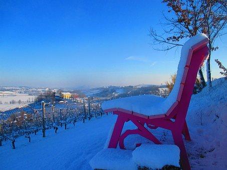 Big Bench, Snow, Tree, Winter, Wintry