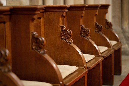 Church, Bench, Choir Stalls, Chancel, Pew, Religion