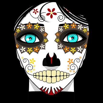 Woman, Calavera, Day Of The Dead, Sugar Skull, Face