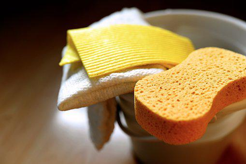 Sponge, Dishcloth, Cleaning, Cleaning Tools