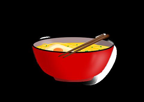 Noodles, Soup, Bowl, Chopstick, Egg, Cook, Breakfast