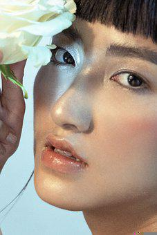 Asian, Girl, Model, Fashion, Hairstyle, Face, Cosmetics