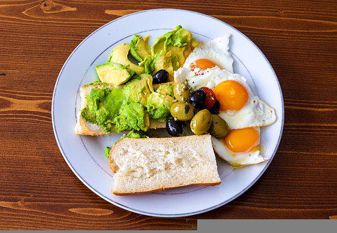 Breakfast, Avocado, Food, Salad, Healthy, Eggs
