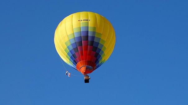 Hot Air Balloon, Fly, Sky, Flying, Floating, Ballooning