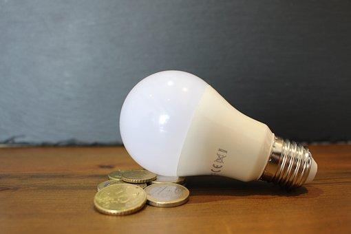 Light Bulb, Coins, Energy Saving, Power Saving