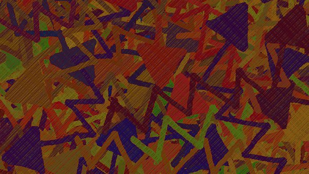 Background, Abstract, Zigzag, Arrows, Lines, Scattered