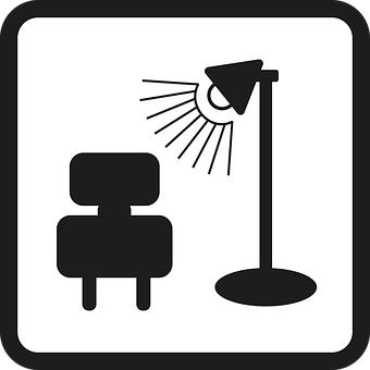 Icon, At Home, House, Interior, Lamp, Chair, Home, Live