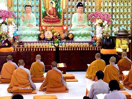 Praying, Buddha, Buddhism, Meditation, Religion, Asia
