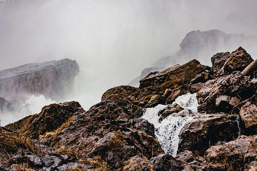 Waterfall, Rocks, Niagara Falls, Fog, Mist, Water