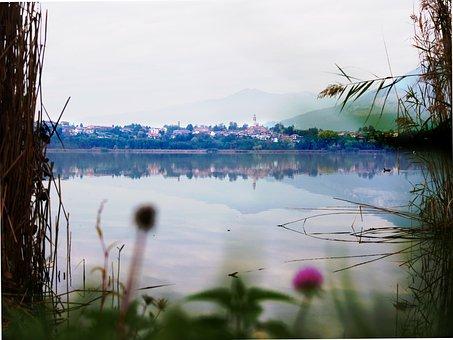 Lake, Nature, Church, Italy