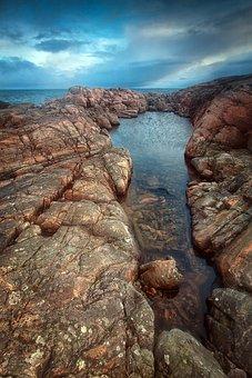 Ocean, Rocks, Shore, Coast, Norway, Waves, Water, Storm